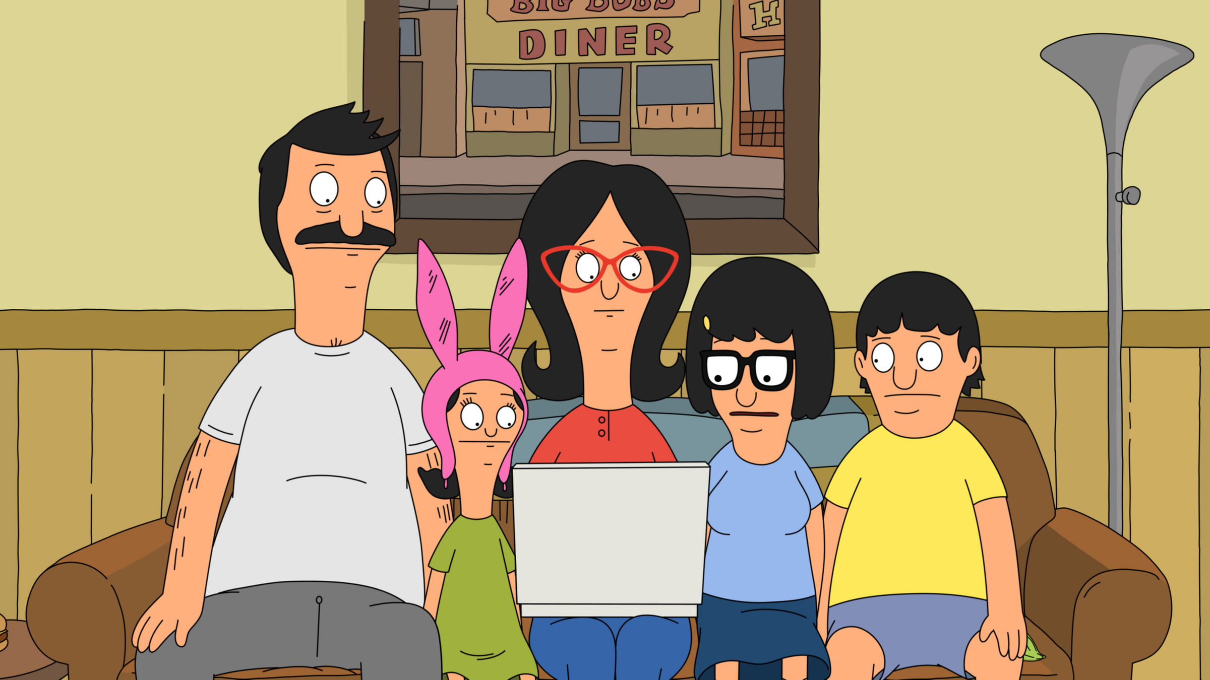"BOB'S BURGERS: The Belchers go online to help Gene improve at baseball in the all-new ""The Unnatural"" Season Three finale episode of BOB'S BURGERS airing Sunday, May 12 (8:30-9:00 PM ET/PT) on FOX. BOB'S BURGERS ™ and © 2013 TCFFC ALL RIGHTS RESERVED."