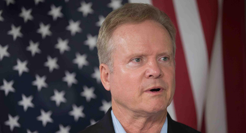 Potential Democratic Presidential Candidate Former Senator Jim Webb Appears In Iowa