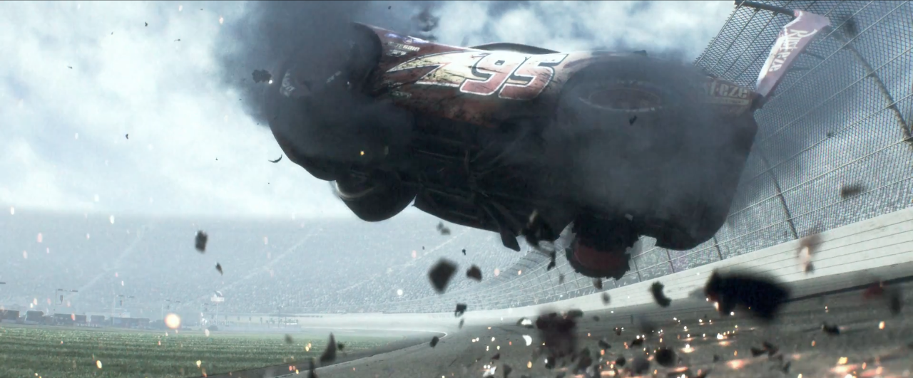 Did…Did Pixar Just Kill Lightning McQueen In The 'Cars 3' Trailer?